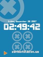 Blue Cross Clock | 240*320