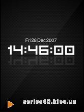 Carbon Fibre Digital Clock | 240*320
