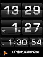 Flip Clock Black | 240*320