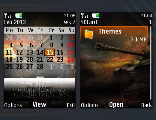 World of Tanks Theme by MiX | 240*320